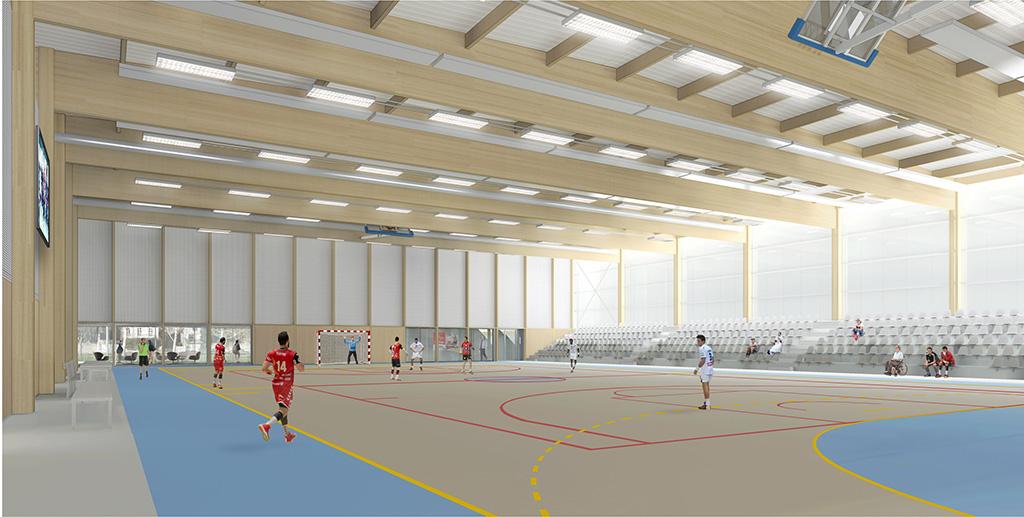 Vue int2 - Halle sportive – Caen
