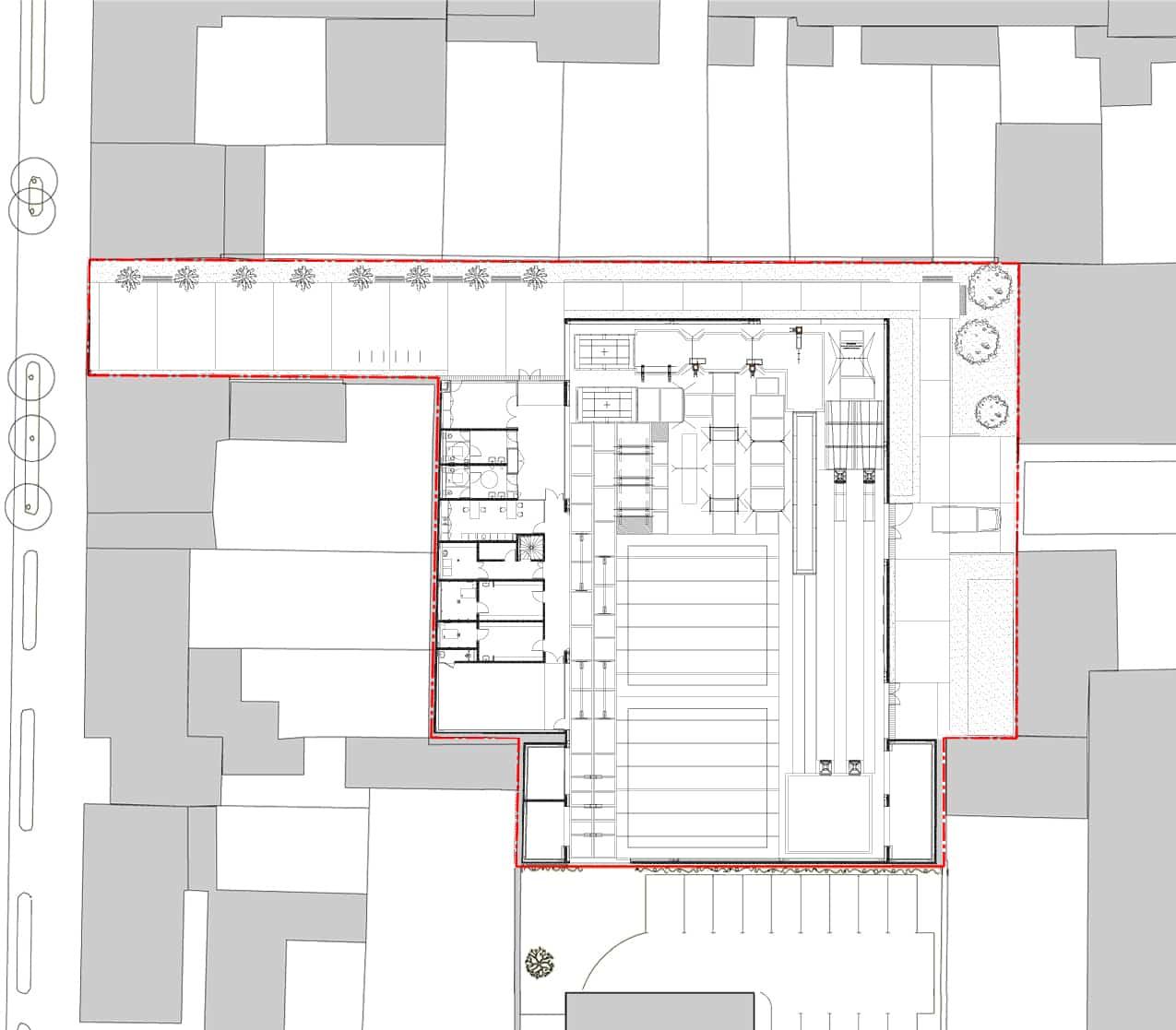 plan abord A - Salle de gymnastique – Cherbourg
