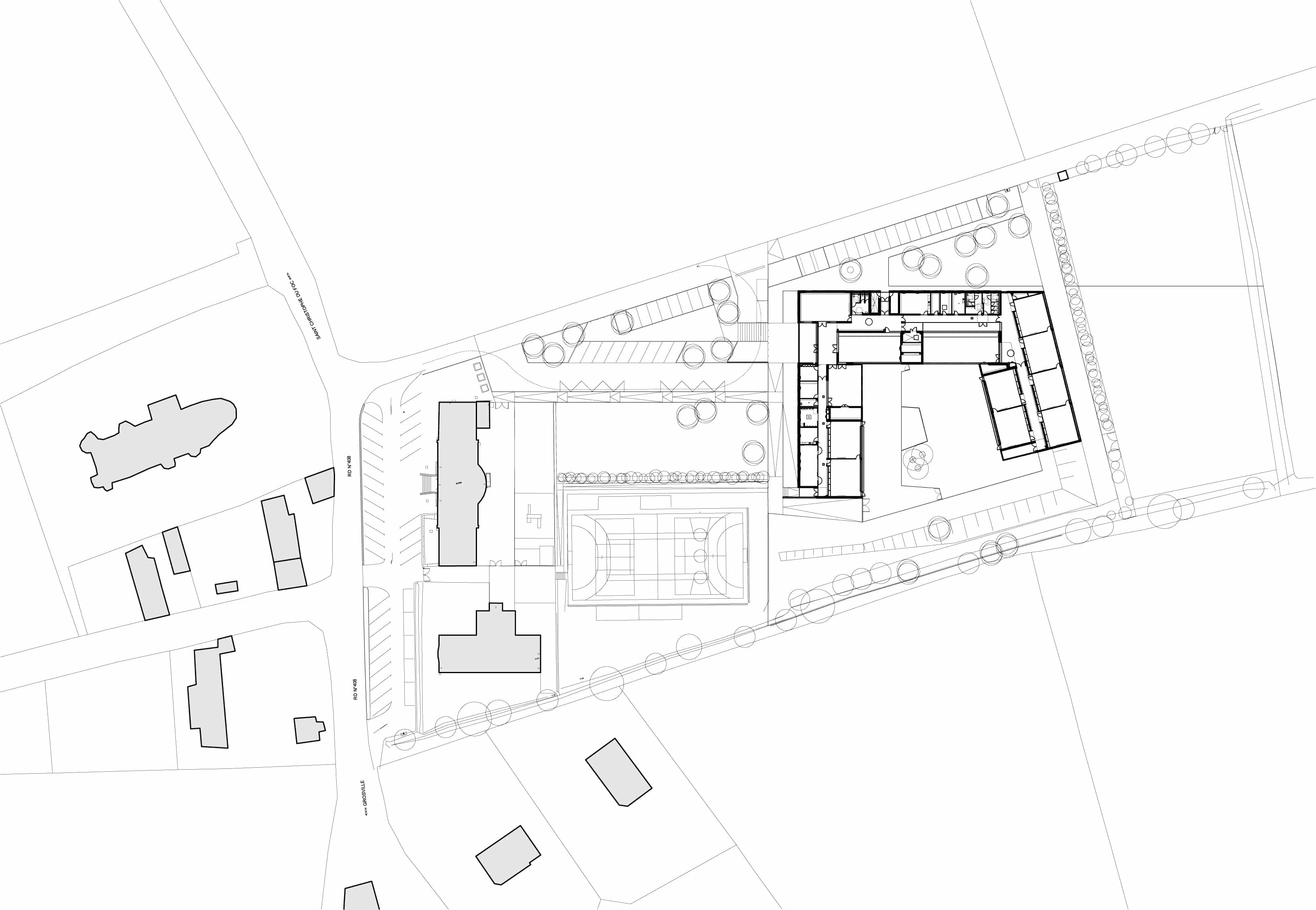 plan masse A - Groupe scolaire – Sotteville