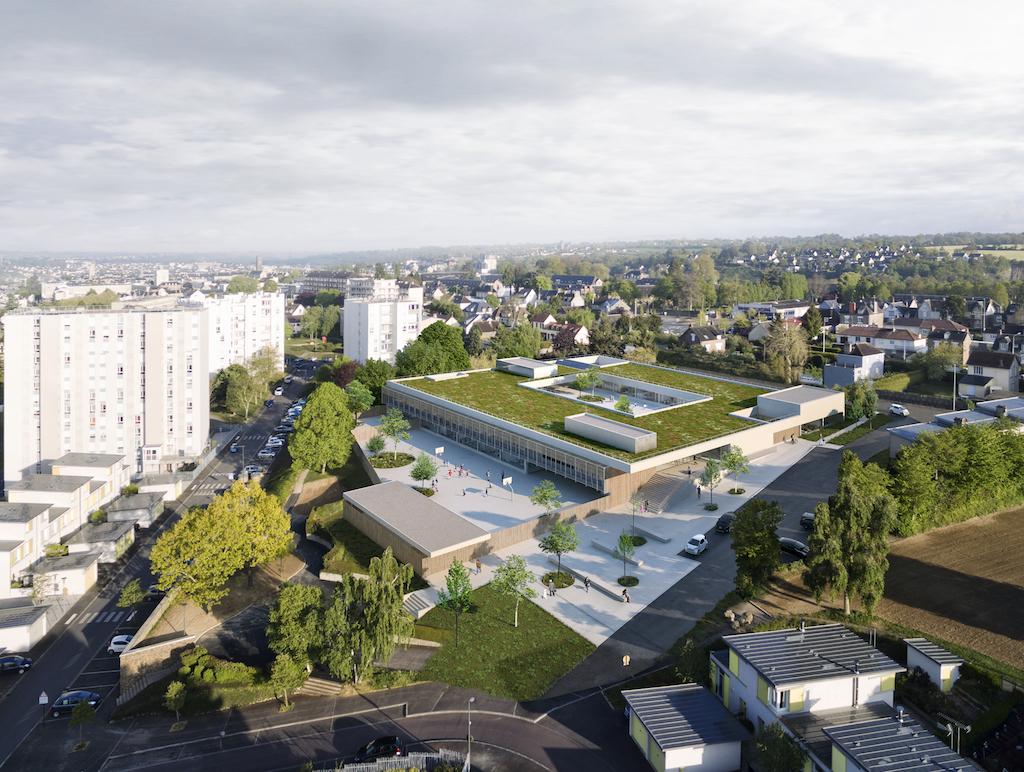 Saint Lo 01 - Groupe scolaire – Saint-Lô