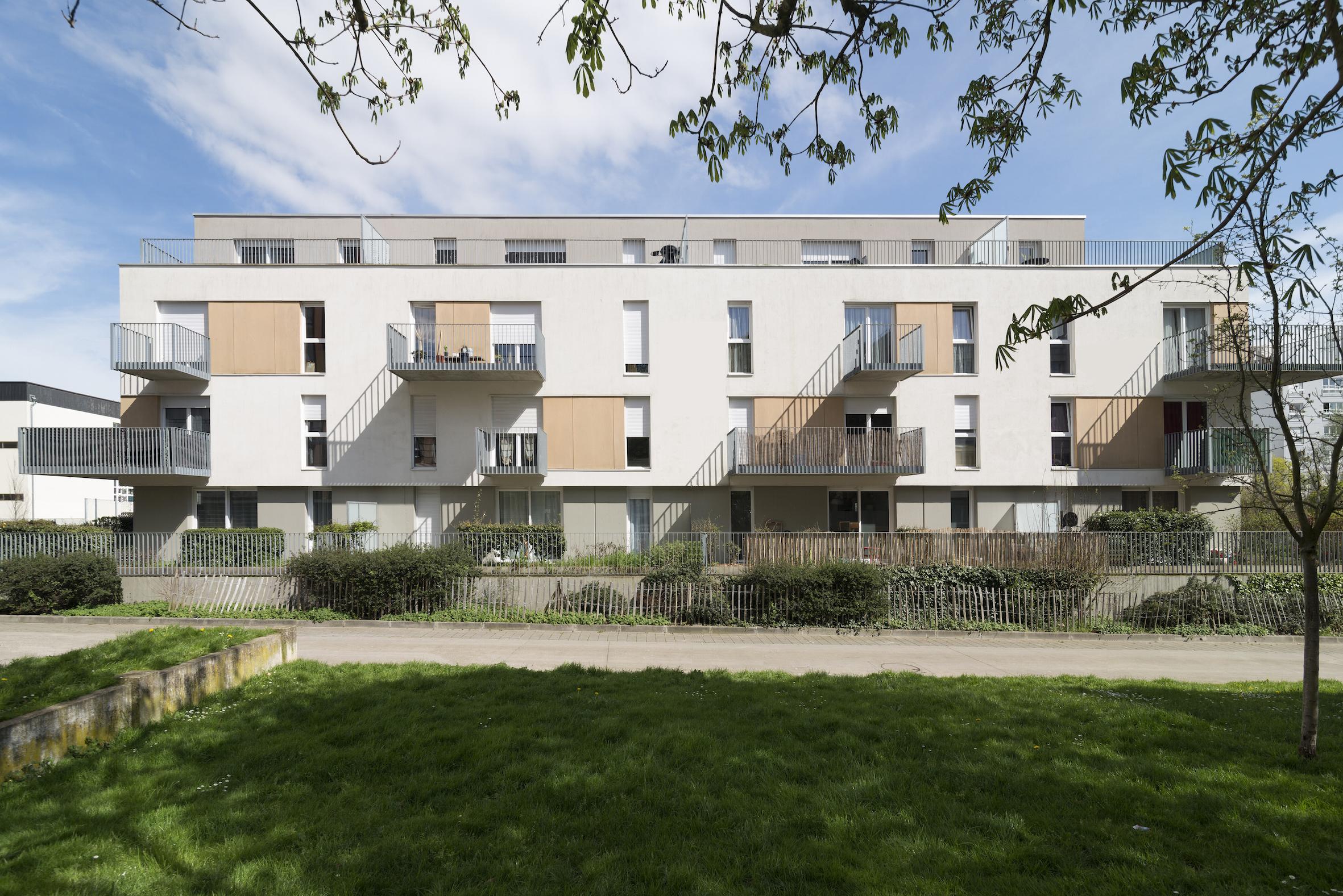 Vue 1 - 2 immeubles de 16 logements collectifs - Hérouville-Saint-Clair