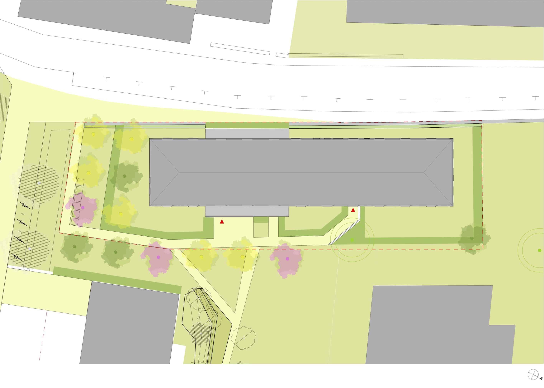 2 Plan de masse - Logements - Lot D1 - Les grands jardins de Calix – Caen